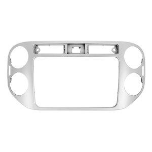 Перехідна рамка для Volkswagen Tiguan 2013 14 р.в. для RCD510, RNS510, RCD310, RNS310, RNS315 срібляста