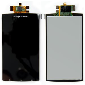 LCD for Sony Ericsson LT15i, LT18i, X12 Cell Phones, (black, with touchscreen)