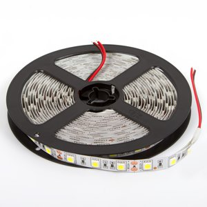 LED Strip SMD5050 (high-brightness, cold white, 300 LEDs, 12 VDC, 5 m, IP20)