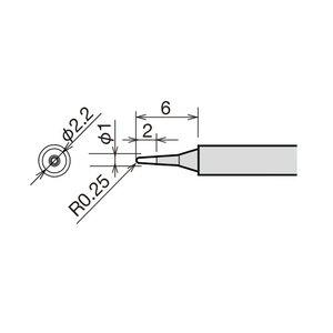 Soldering Iron Tip Goot RX-81HRT-B