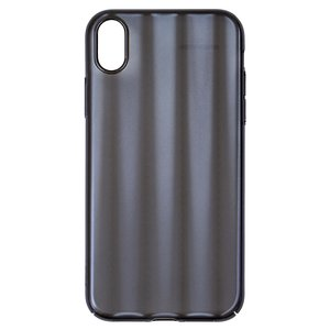Case Baseus compatible with iPhone XR, (black, with iridescent color, matt, plastic) #WIAPIPH61-JG01