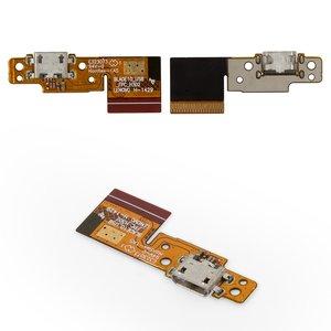 Cable flex para tablet PC Lenovo B8000 Yoga Tablet 10,  del conector de carga, con componentes