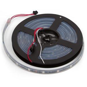 Светодиодная лента, IP67, RGB, SMD 5050, WS2811, с управлением, черная, 12В, 30 д/м, 1 м