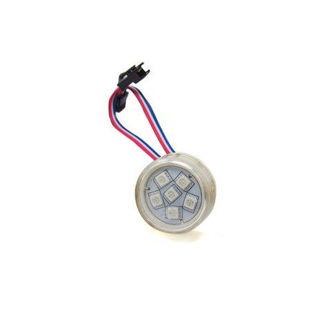 Комплект круглих LED модулів повноколірні, 6 світлодіодів SMD5050, 38 мм, IP67, 20шт.