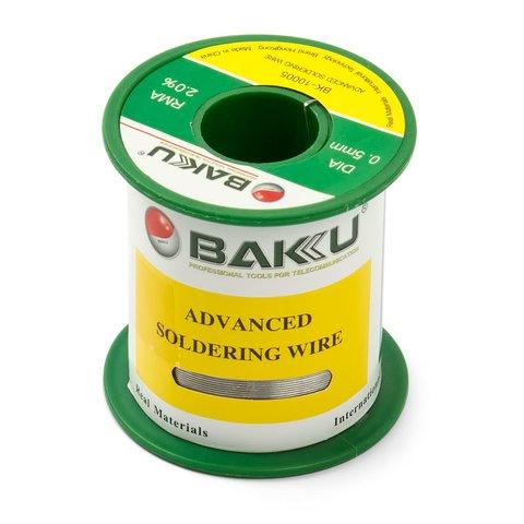 Solder Wire Baku BK 10005, Sn 97%, Ag 0.3%, Cu 0.7%, Flux 2% 0.5 mm, 100 g