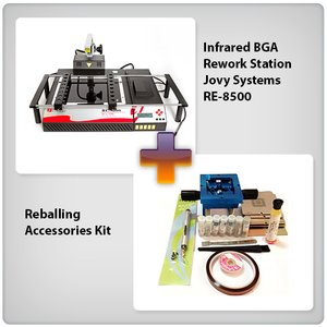 Infrared BGA Rework Station Jovy Systems RE-8500 + Reballing Accessories Kit